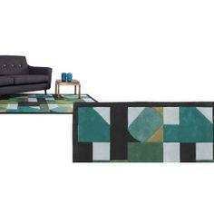 Il tappeto Merida 170 x 240cm verde ha una bellissima decorazione geometrica con originali combinazioni di colore.