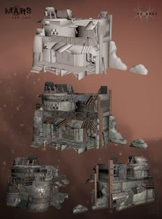 """Slum house from the video game """"Mars War Logs"""" / 3Ds Max"""