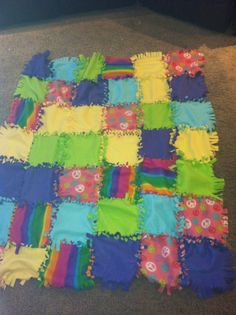 knot a tie blanket. Great for scrap fleece - donate it to my local animal rescue when finished. Perfect for the squares I cut out from the corners of other tied fleece blankets. Now to find more scrap fleece - others donate theirs?????