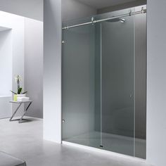 Beautify your bathtub or shower with sliding glass barn doors. We sliding glass shower doors within a week Shower Sliding Glass Door, Glass Doors, Bathtub Doors, Shower Installation, Tall Cabinet Storage, Furniture, Home Decor, Glass Pocket Doors, Decoration Home