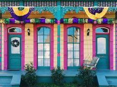 This house is Mardi Gras ready  #nola #neworleans #followyournola…