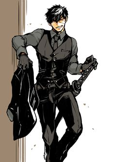 Fantasy Character Design, Character Design Inspiration, Character Concept, Character Art, Handsome Anime Guys, Cute Anime Guys, Yakuza Anime, Japon Illustration, Boy Art