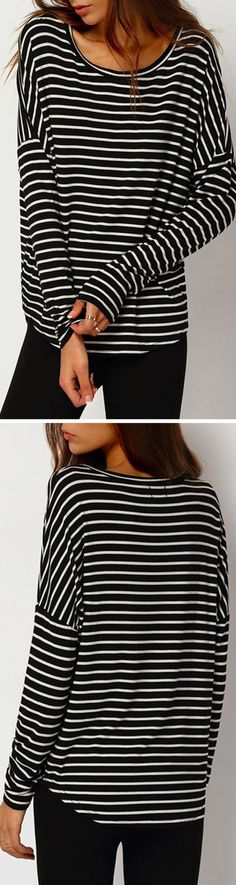 Classic stripe cotton shirt with long sleeve at romwe.com. Nice for spring travel outfit!Click for more women fashion items! - mens black and white button down shirt, mens collared shirts, white and black shirt mens *sponsored https://www.pinterest.com/shirts_shirt/ https://www.pinterest.com/explore/shirt/ https://www.pinterest.com/shirts_shirt/band-shirts/ http://us.shein.com/T-shirt-c-1738.html