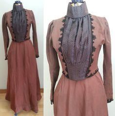 1880er Jahre / 1890er Jahren treiben Gown  Mieder & von HatsToSpats