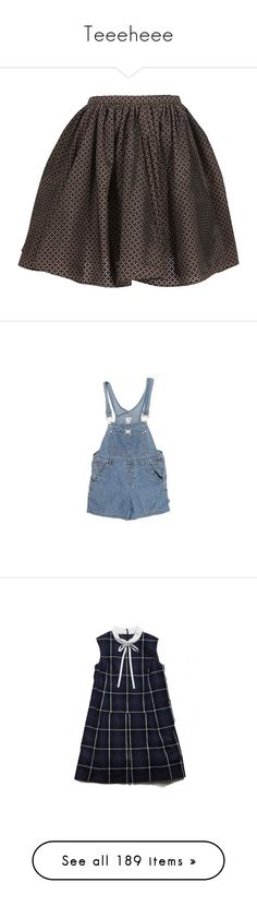 """""""Teeeheee"""" by aveom ❤ liked on Polyvore featuring skirts, bottoms, c - skirts, nude skirt, knee length skirts, pink knee length skirt, pink skirt, alaia skirt, one piece and overalls"""
