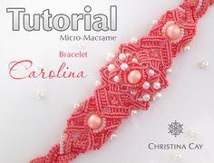 Patrón de Carolina TUTORIAL PDF Micro-Macrame por ChristinaCay