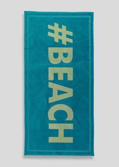 Slogan Jacquard Beach Towel (140cn x 70cm)