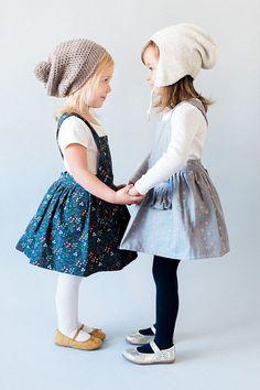 Ayla bambin Pinafore Dress  robe enfant  filles Vintage
