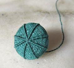 Grindle Buttons, based on Dorsett buttons. Tutorial on  www.mackin-art.blogspot.com