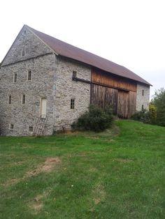 English Brick Barn Gable End Of A Brick Barn With