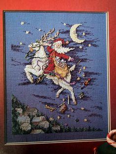 Santa's Great Book Cross Stitch Santa Book By NeedANeedle, $12.75