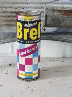 Volle verpakking BREF met borax: voor pompstenen, lavabo's etc. ca. Grocery Store, Retro Vintage, Old Things, Canning, Home Canning, Conservation