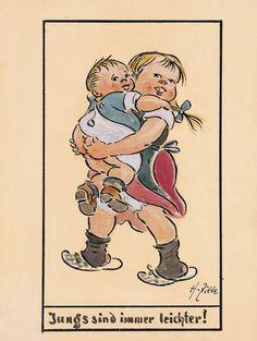 Heinrich Zille  «Jungs sind immer leichter!»