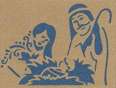 Nativity Silhouette Card Cricut cartridge