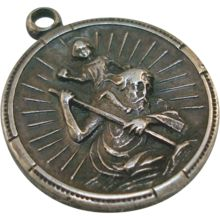 Sterling St. Christopher Charm