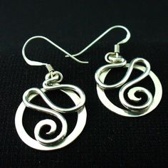 Handmade Sterling Silver Twisted Wire Earrings. $28.00, via Etsy.