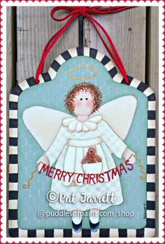 Ginger Angel ePacket #PJ Chris Pat, Christmas Crafts, Christmas Ornaments, Paint Shop, Painting Patterns, Pj, Merry, Angel, Holiday Decor