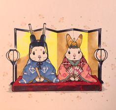 Japanese Rabbits #bunny #rabbit #japanese