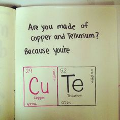 Ok this is the chemistry nerd coming out...so cute!