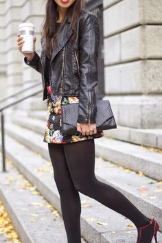 Blogger Connie Tang wears JJ Winters style #368 in Black Boa