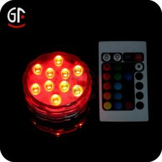 remote controlled led submersible light