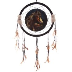 Apache Horse Design Medium Dreamcatcher 33cm - Artist Lisa Parker Dreamcatchers are a great way to add colour and design to your home or workplace