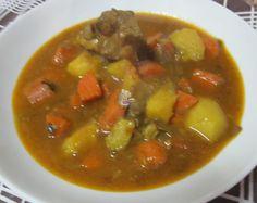 Receta casera y fácil de estofado de cerdo con verduras