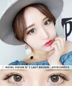 For standout color that guarantees a bunch of compliments wherever you go, and SUPER comfortable wear thanks to the lush hydrogel material, look no further than the Royal Vision No. 7 circle lenses!  Get a FREE box when you buy 2, only at EyeCandy's!