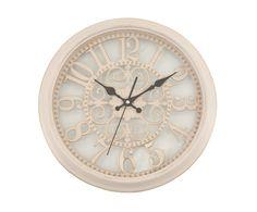 Часы настенные - пластик - бежевый - 35х35х5 см | Westwing Интерьер & Дизайн