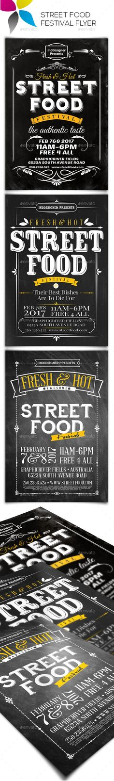 Street Food Festival Flyer — Photoshop PSD #street food festival flyer #street • Available here → https://graphicriver.net/item/street-food-festival-flyer/14861377?ref=pxcr