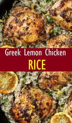 Lemon Chicken and RiceYou can find Easy mediterranean recipes and more on our website.Greek Lemon Chicken and RiceGreek Lemon Chicken and RiceYou can find Easy mediterranean recipes and more on our website.Greek Lemon Chicken and Rice Chicken Quarter Recipes, Chicken Salad Recipes, Salmon Recipes, Soup Recipes, Cooking Recipes, Healthy Recipes, Easy Recipes, Greek Chicken Recipes, Chicken Recipes Healthy Oven