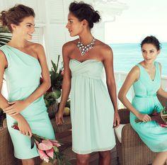 J.Crew beach wedding bridesmaid dresses