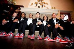 Groomsmen suits - Nice kicks!