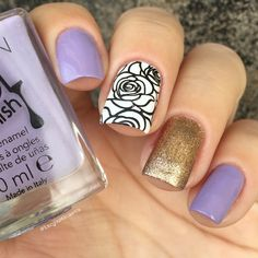 Rose Flower Nail Art Stamping Template Image Plate BORN PRETTY BP73