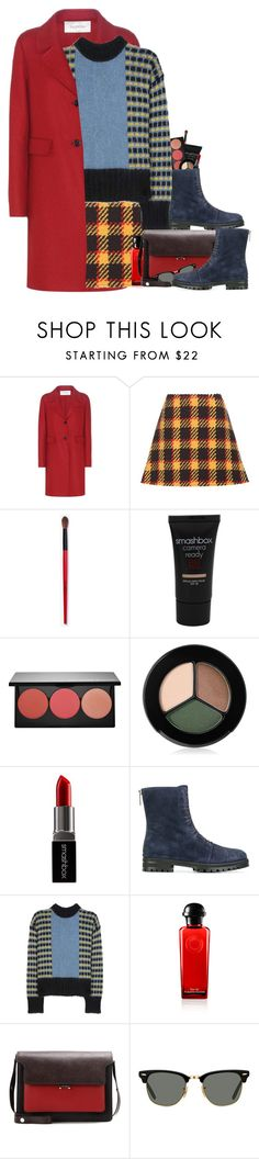 """""""Colorful Warmth"""" by hollowpoint-smile ❤ liked on Polyvore featuring Valentino, Marni, Smashbox, Jimmy Choo and Ray-Ban"""