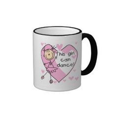 "An adorable stick figure ballerina in a pink tutu, pink hearts, and text that reads ""This girl can dance!"" on ballerina bags, T-shirts, hoodies, mugs, buttons, mousepads, keychains, magnets, and other ballerina apparel and gifts. #ballet #dance #dancer #dancing #ballerina #ballet #dancer #ballet #dancing #ballet #dancing #gift #ballerina #gift #gift #ballerina #ballerina #mug #ballerina #stickers #ballerina #cards #ballerina #postage #ballerina #magnets #stick #figures #stick #people ..."
