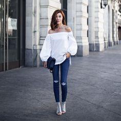 Jenny Tsang - Jeans - Bare Shoulders