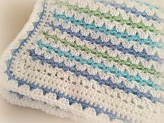 Crochet Baby Blanket Pattern Baby Blanket di DeborahOLearyPattern