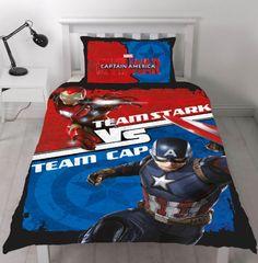 Cotton Blend official merchandise Brand new design! Reversible – 2 designs in Pillowcase size Included Duvet Cover Sizes, Quilt Cover Sets, Duvet Covers, Marvel Avengers Comics, Duvet Bedding, Captain America, Iron Man, Quilts, Superhero