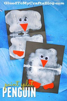 Animal Crafts Paint Splat Penguin Friends - Kid Craft Idea Transform You Home With Winter Crafts For Toddlers, Winter Kids, Crafts Toddlers, Watercolor Card, Artic Animals, Crafts For 3 Year Olds, January Crafts, January Art, December