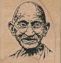 Gandhi 1 1/2 x 1 1/2  |  VivaLasVegaStamps