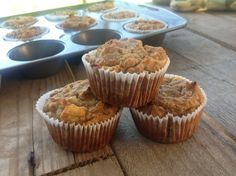 Coconut Flour Banana Apple Muffins  @ The Cafe Wellness