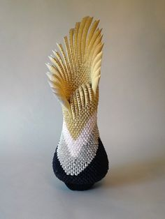 anemone b - Francene Levinson. Her art includes stunning 3D origami sculptures, formed by folding paper.