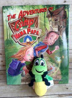 Camp Nana Papa Children's Book with Plush Glowworm Toy