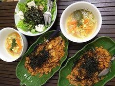 キムチチャーハン&ツナサラダ&豆スープ