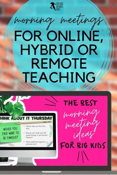 Are you a teacher who is looking for virtual morning meeting greetings as you teach in-person, virtually or hybrid? Do you need to settle your students at the start of the day with morning messages? A consistent and fun morning routine in your classroom? Questions encourage your students to have meaningful conversations or writing prompts? An effective morning check in to connect with your students and attend to their social emotional needs? Check out Daily Morning Meetings! Morning Meeting Activities, Morning Meetings, Time Activities, Morning Meeting Greetings, Philosophical Thoughts, Responsive Classroom, Meaningful Conversations, Blended Learning, Social Emotional Learning