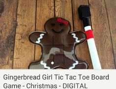Gingerbread girl tic tac toe game