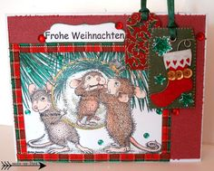 House Mouse Christmas Card by Arts by Tini