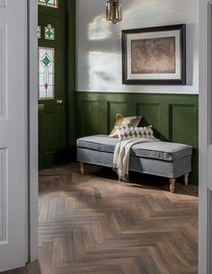 Andira introduces a new smaller-sized wood-effect tile to the range family, offering an alternative to the larger Spaces™️ Carnelle™️. With parquet curr. Wood Effect Floor Tiles, Herringbone Tile Floors, Wood Floor Pattern, Wood Tile Floors, Floor Patterns, Herringbone Pattern, Parquet Flooring, Wood Parquet, Hallway Flooring