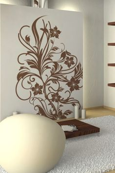 Wall Decals  Corner Vines Flowers, Vines, Leaves, Branches, Swirls-WALLTAT.com Art Without Boundaries